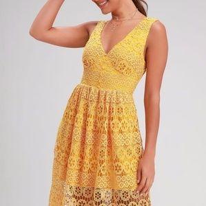 Lulus Hannon Mustard Yellow Dress